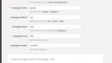 Google URL builder codes – UTM codes for tracking sales